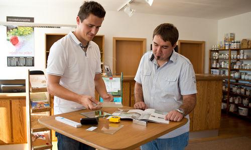Kundengespräch im bei Lipfert Glas